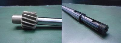段付きシャフト・ギア付きシャフト等、 特殊・異形シャフトを社内設備で一貫生産